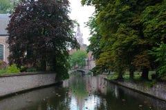 Lago del amor, Brujas Minnewater Imagenes de archivo