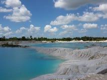 Lago del azul del caolín Fotografía de archivo