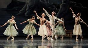 Lago del cisne del ballet Imagen de archivo libre de regalías