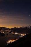 Lago del colpo di notte Fotografie Stock Libere da Diritti