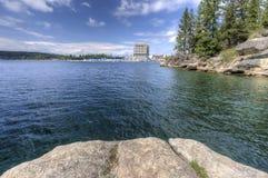 Lago del d'Alene di Coeur dalla collina di Tubbs Fotografia Stock Libera da Diritti