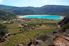 Lago del espejo de Venus (Pantelleria) Fotografía de archivo libre de regalías