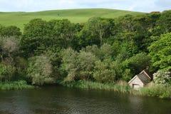 Lago del fango, st Abbs, Northumberland e confini scozzesi Fotografie Stock