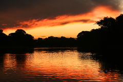 Lago del fuego Fotos de archivo libres de regalías