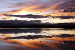 Lago del fuego Fotos de archivo