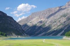 Lago del Gallo or Lago di Livigno (lake) Royalty Free Stock Photo