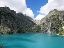 Lago del ghiacciaio della montagna Fotografia Stock Libera da Diritti