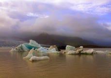 Lago del ghiacciaio di Jokulsarlon Fotografia Stock Libera da Diritti