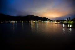 Lago del kawaguchiko de Japón Imagen de archivo libre de regalías