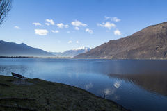 Lago del mezzola Imágenes de archivo libres de regalías
