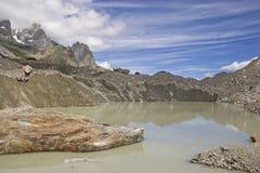 Lago del Miage in Val Veny royalty free stock image