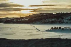 Lago del Nord di inverno Fotografia Stock Libera da Diritti