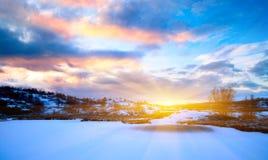 Lago del nord winter Immagini Stock Libere da Diritti