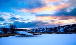 Lago del norte winter Foto de archivo