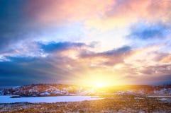 Lago del norte winter Foto de archivo libre de regalías