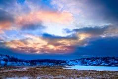 Lago del norte winter Fotografía de archivo libre de regalías