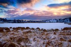 Lago del norte winter Imágenes de archivo libres de regalías