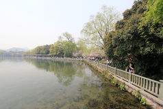 Lago del oeste en Hangzhou, China Fotos de archivo libres de regalías