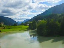 Lago del paesaggio di estate Fotografia Stock