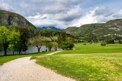 Lago del parco nazionale di Triglav, Slovenia Bohinj Il Triglav Immagine Stock Libera da Diritti