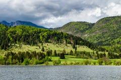 Lago del parco nazionale di Triglav, Slovenia Bohinj Il Triglav Fotografia Stock