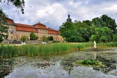 Lago del parque de Schloss Fasanarie en Fulda en Hesse, Alemania imágenes de archivo libres de regalías