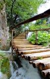 Lago del paseo mágico de Plitvice, Croacia Foto de archivo libre de regalías