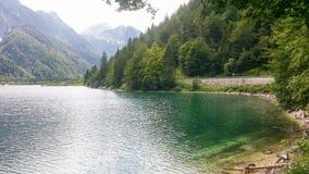 Lago del Predil imagen de archivo
