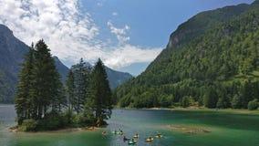Lago del Predil Royaltyfri Bild