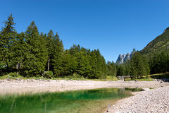 Lago del Predil - Friuli Italy Stock Photography
