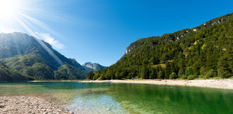 Lago del Predil - Friuli Italy Royalty Free Stock Photo