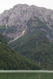 Lago del Predil i Italien Arkivfoton