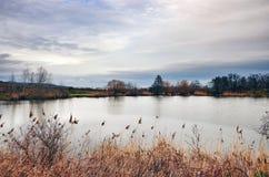 Lago del pueblo de Grinava Fotos de archivo