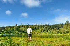 Lago del regulo de Ranu Foto de archivo libre de regalías