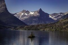 Lago del ` s di St Mary in Glacier National Park Immagini Stock