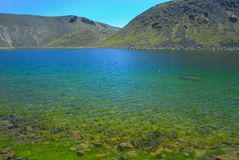 Lago del Solenoide no vulc?o de Nevado de Toluca m?xico imagem de stock royalty free