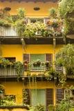 Lago del sud Como, Italia Cernobbio dei balconi Fotografia Stock Libera da Diritti