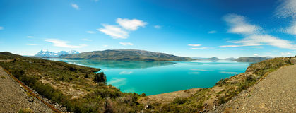 Lago del Toro, Torres del Paine National πάρκο, Χιλή Στοκ Εικόνα