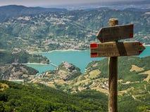 Lago Del Turano Stockbilder