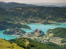 Lago del Turano Royalty-vrije Stock Fotografie