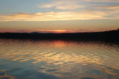 Lago del Ural del sud Immagini Stock Libere da Diritti