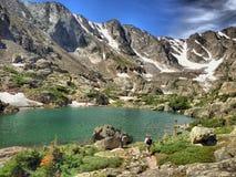 Lago dell'alta montagna Fotografia Stock