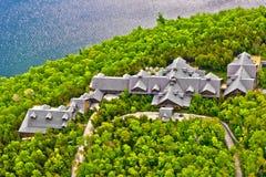 Lago dell'hotel di Sacacomie in Quebec Canada Fotografia Stock