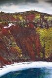 Lago della caldera di Kerid Fotografie Stock Libere da Diritti