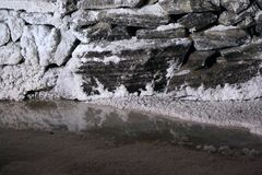 Lago della miniera di sale fotografie stock libere da diritti