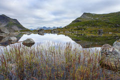 Lago della montagna di Fageravetnet Immagine Stock