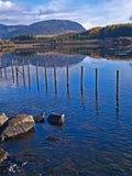 Lago della montagna di Lingua gallese Fotografie Stock Libere da Diritti