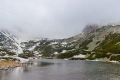 Lago della montagna di pleso di Skalnate slovakia fotografia stock libera da diritti