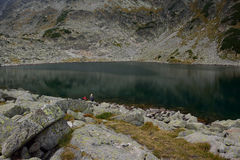 Lago della montagna di Rila Immagine Stock
