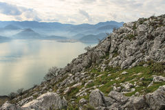 Lago della montagna di Skadar Fotografia Stock